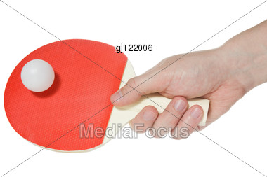 Hand Of Table-tennis Player Stock Photo