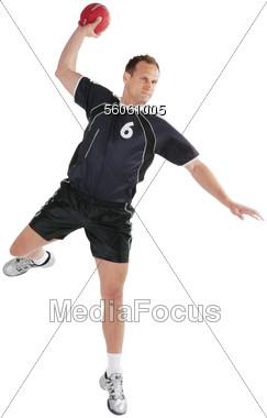 Handball Player Stock Photo