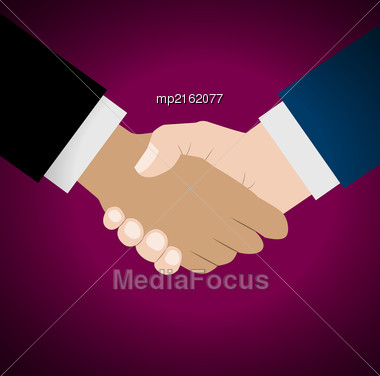Handshake Vector Illustration. Background For Business And Finance Stock Photo