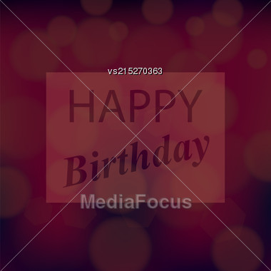 Happy Birthday Text On Red Blurred Background Stock Photo