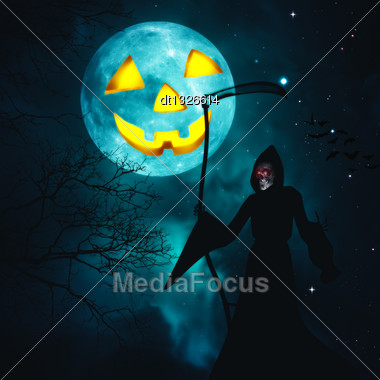 Happy Halloween. Abstract Horror Backgrounds For Your Design Stock Photo