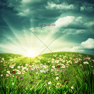 Happy Hills. Abstract Natural Backgrounds Stock Photo