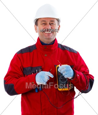 Being Happy With The Profession He Has Chosen Stock Photo