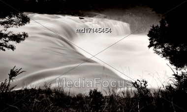 Haruru Falls New Zealand Bay Of Islands Stock Photo