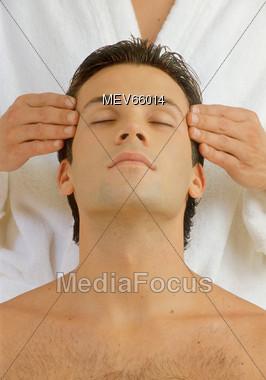 Headache Relief Stock Photo