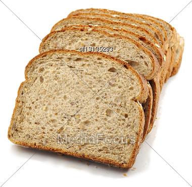 Healthy Fresh Bread On White Background Stock Photo