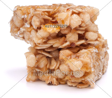 Healthy Munchies Isolated On White Background Stock Photo
