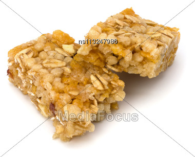 Healthy Munchies Isolated On White Background Close Up Stock Photo