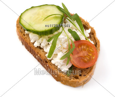 Healthy Sandwich Isolated On White Background Stock Photo