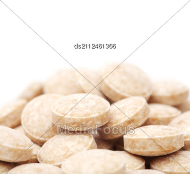 Heap Of Pills Isolated Stock Photo