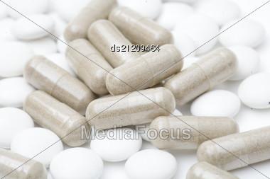 Heap Of Pills Stock Photo