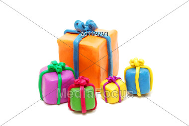 Royalty-Free Stock Photo: Heap Of Various Multi Colored New Year Gifts
