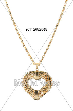 Heart Pendant Of Gold Stock Photo