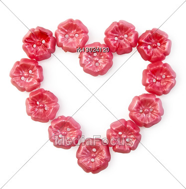 Heart Of The Pink Buttons Stock Photo