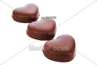 Heart Shape Chocolates Stock Photo
