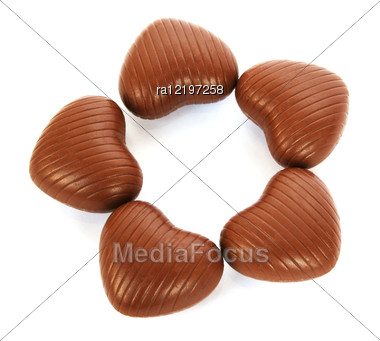 Heart Shape Chocolates Stock Photo