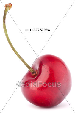 Heart Shaped Cherry Berries Isolated On White Background Cutout Stock Photo