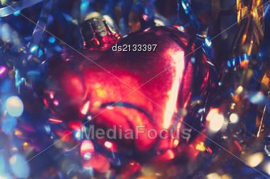 Heart-shaped Xmas Decoration Stock Photo