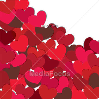 Hearts. Valentine Card. Vector Illustration. EPS10. Stock Photo