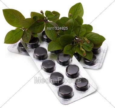 Herbal Medicine Isolated On White Background Stock Photo