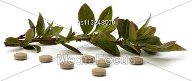 Herbal Medicine Isolated On White Background Stock Photo