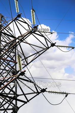Hi -Power Transmisson Electric Line Stock Photo