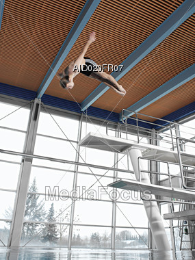 High Dive Stock Photo