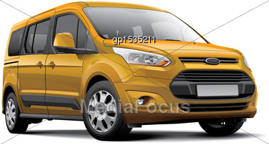 High Quality Vector Image Of European Leisure Activity Vehicle, Isolated On White Background. File Contains Gradients, Blends And Transparency. No Strokes. Easily Edit: File Is Divided Into Logical La Stock Photo