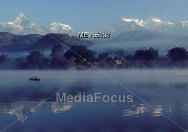 Himalya Mountains in Nepal Stock Photo