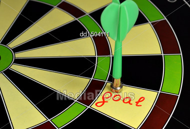 Hit Right On Target Stock Photo