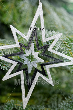 Holiday Background with Star Stock Photo