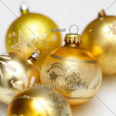 Holiday Ornaments Background Stock Photo