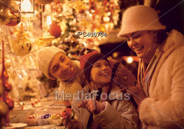 Holiday Shopping Stock Photo