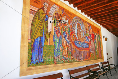 Holy Monastery Of The Virgin Of Kykkos In Troodos Mountains, Cyprus. Stock Photo