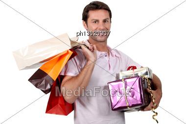 Honey, I Went Shopping Stock Photo