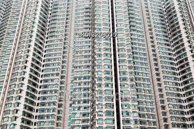HONG KONG, CHINA - FEBRUARY 21: Building Block As A Background On February, 21, 2013, Hong Kong, China Stock Photo
