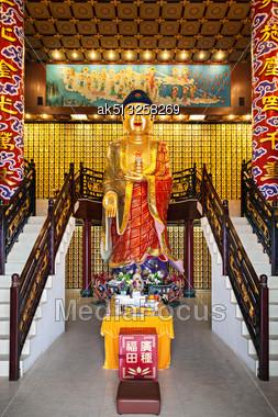 HONG KONG, CHINA - MARCH 19: Statue At Ten Thousand Buddhas Monastery In Hong Kong On March, 19, 2013, Hong Kong, China. Its One Of The Most Popular Tourist Destination In Hong Kong Stock Photo