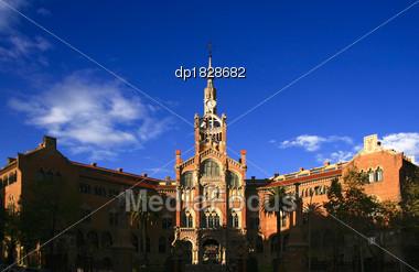 Hospital De Sant Pau, Barcelona, Spain Stock Photo