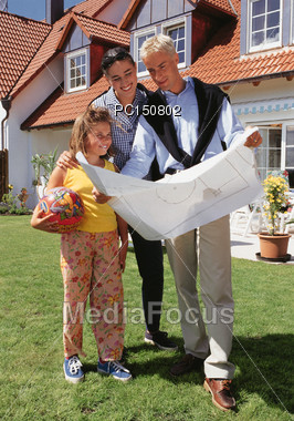 House Hunting Stock Photo