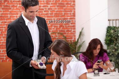 Husband Giving Wife Present Stock Photo