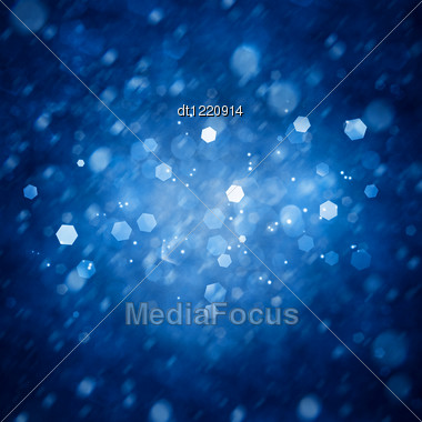 Ice Lights. Abstract Winter Backgrounds Stock Photo