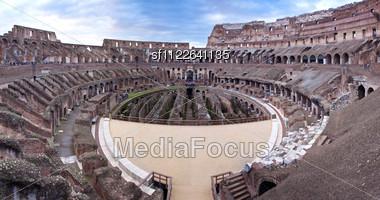 Iconic, The Legendary Coliseum Of Rome, Italy Stock Photo