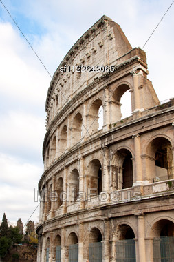 Iconic, The Legendary Coliseum Of Rome, Italy Stock Photo