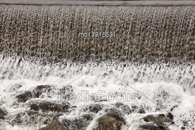 Idaho Falls In Springtime River Cascading Water Stock Photo
