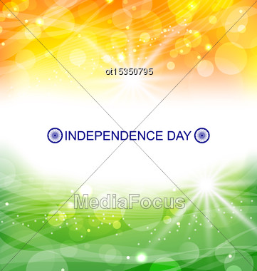 Illustration Abstract Background For Indian Independence Day - Vector Stock Photo