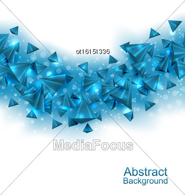 Illustration Abstract Background With Pyramids With Light Effects - Vector Stock Photo