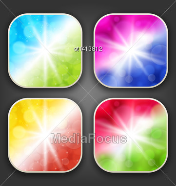 Illustration Abstract Backgrounds With For The App Icons - Vector Stock Photo