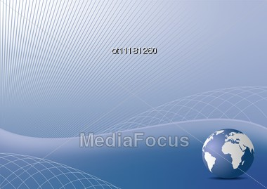 The Abstract Blue Background For Design Business Cover Card Or Invitation Style Stock Photo