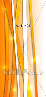 Illustration Abstract Orange Background With Lines - Vector Stock Photo
