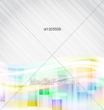 Abstract Squares Background For Design Business Card Stock Photo
